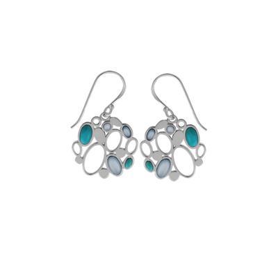 Boma Blue Turquoise & Shell Bubble Earrings