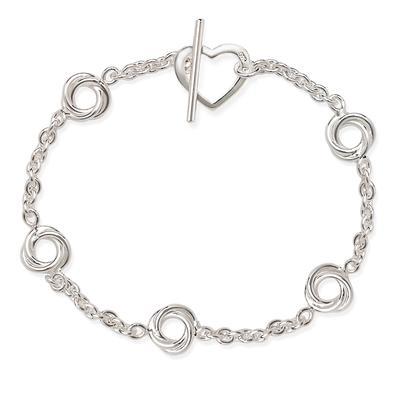 Sterling Silver Open Knot Bracelet