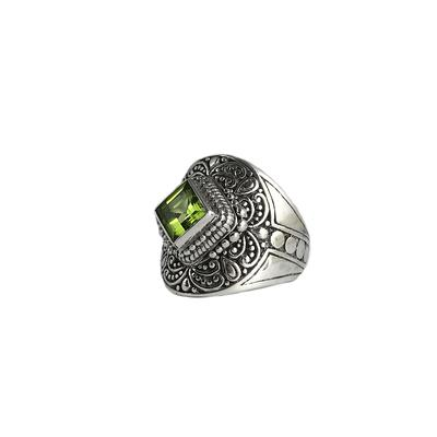 Sarda Sterling Silver & Peridot Ring