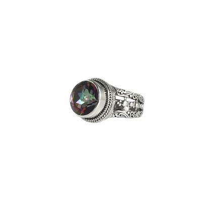 Sarda Sterling Silver & Green Mystic Quartz Ring