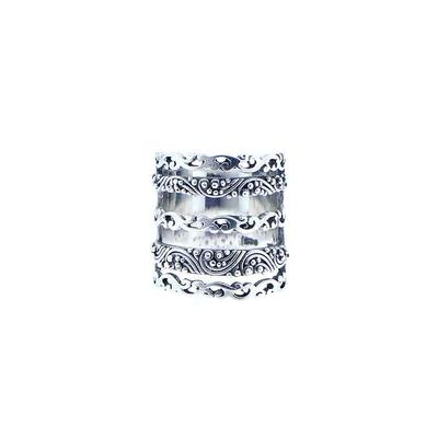 Sarda Sterling Silver Wide Five- Band Ring