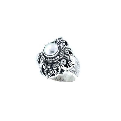 Sarda Sterling Silver & Freshwater Pearl Ring
