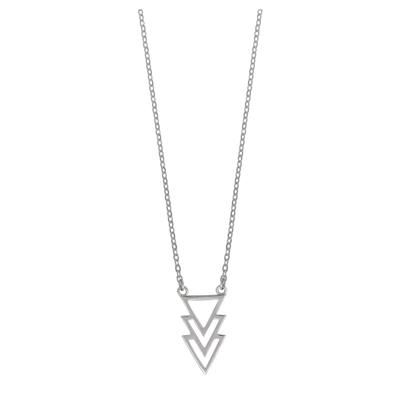 Boma Sterling Silver Open Chevron Necklace