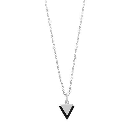 Boma Sterling Silver Black Triangle Necklace