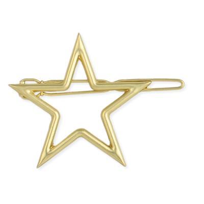 Golden Metal Star Cutout Hairclip