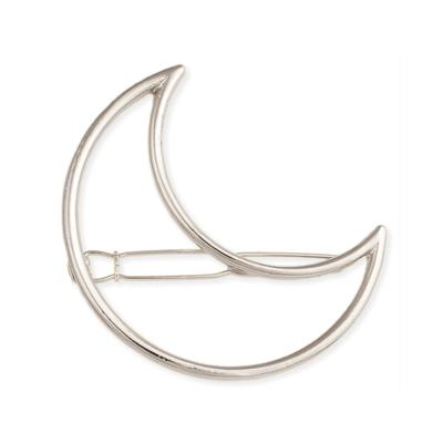 Silver Metal Moon Cutout Hairclip