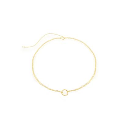 Gold Plated Sterling Silver Open Circle Choker
