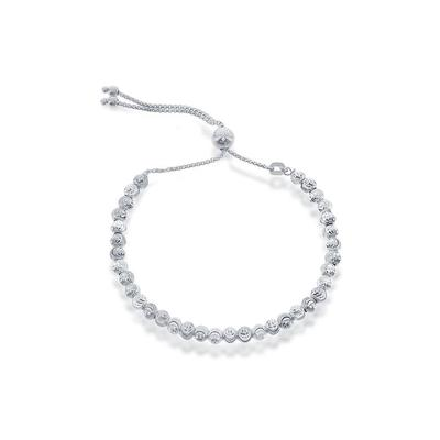 Adjustable Sterling Silver Moon Bead Bracelet