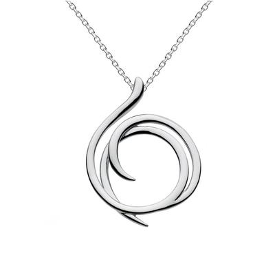 Kit Heath Sterling Silver Large Helix Necklace