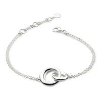Kit Heath Sterling Silver Interlocking Bevel Curve Bracelet