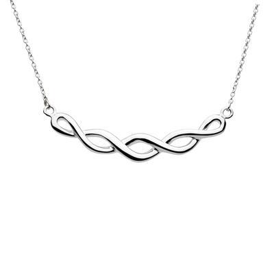 Kit Heath Celtic Sterling Silver Twist Necklace