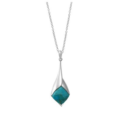 Boma Sterling Silver & Blue Turquoise Drop Necklace