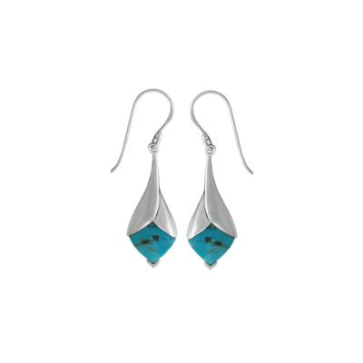 Boma Sterling Silver & Blue Turquoise Drop Earrings