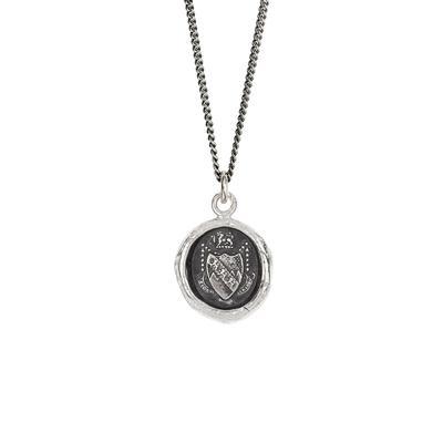 Pyrrha Sterling Silver Keep The Faith Talisman Necklace