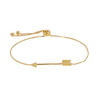 Adjustable Gold Plated Sterling Silver Arrow Bracelet