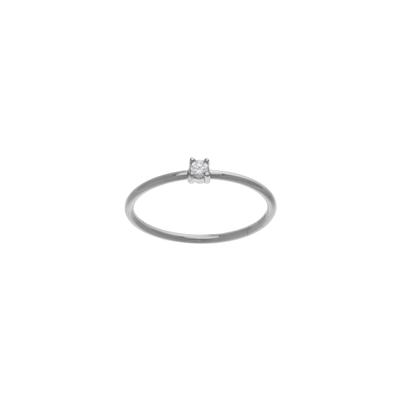 Sterling Silver & Tiny Cz Ring