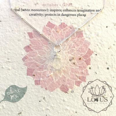 Sterling Silver October Birthstone Trinket Necklace
