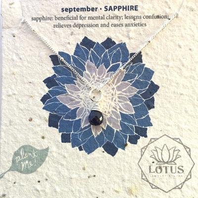 Sterling Silver September Birthstone Trinket Necklace