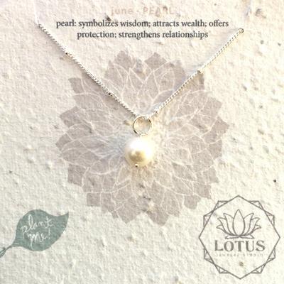 Sterling Silver June Birthstone Trinket Necklace