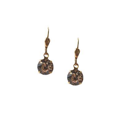 Clara Beau Golden Silk Swarovski Crystal Earrings