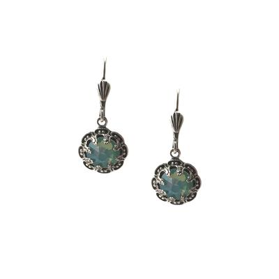 Clara Beau Fancy Pacific Opal Swarovski Crystal Earrings