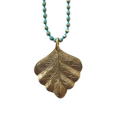 Clara Beau Golden Leaf Necklace