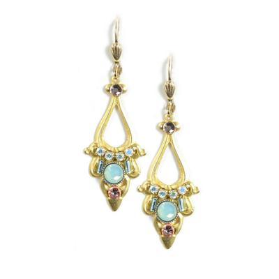 Clara Beau Golden Swarovski Crystal Filigree Earrings