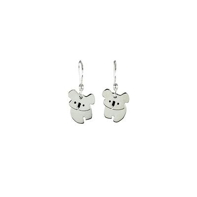 Far Fetched Sterling Silver Dancing Koala Earrings