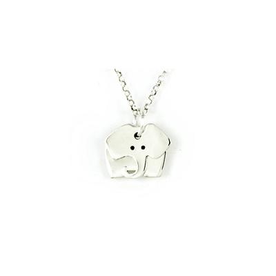 Far Fetched Sterling Silver Dancing Elephant Necklace
