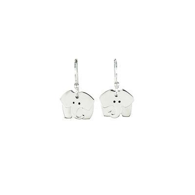 Far Fetched Sterling Silver Dancing Elephant Earrings