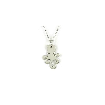 Far Fetched Sterling Silver Octopus Necklace