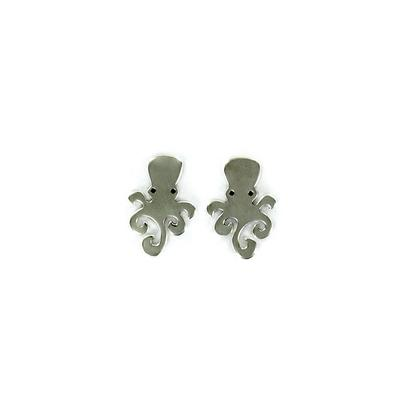 Far Fetched Sterling Silver Octopus Studs