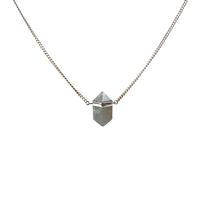 Mimi & Marge Sterling Silver Labradorite Wrap Necklace