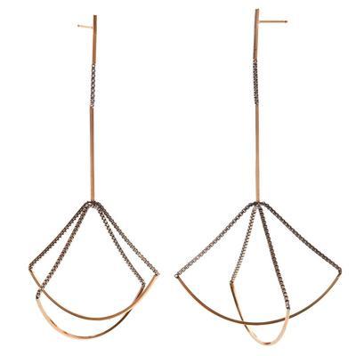 By Boe Sterling Silver & Gold Filled Double Scale Earrings