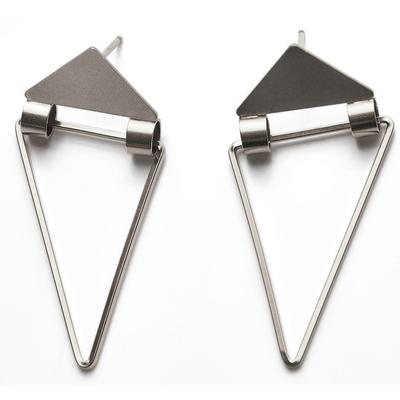 By Boe Sterling Silver Hinged Triangle Earrings
