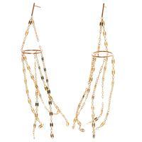 By Boe Gold Filled Razorchain Earrings