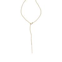 By Boe Gold Filled Leaf & Pin Lariat Necklace