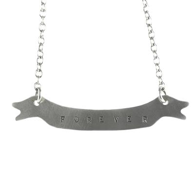 Kelley Reese Sterling Silver Forever Banner Necklace