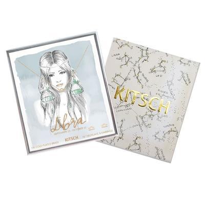 Kitsch Libra Necklace & Stud Set