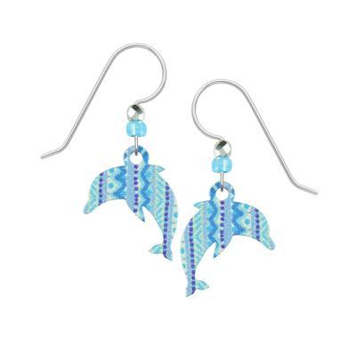 Sienna Sky Patterned Dolphin Earrings