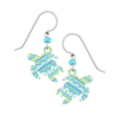 Sienna Sky Patterned Turtle Earrings
