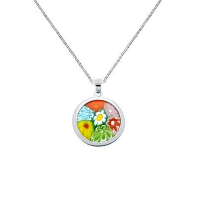 Round Millefiori Murano Glass Necklace