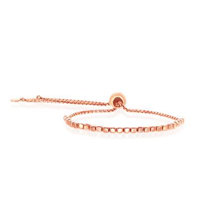 Adjustable Rose Gold Cube Bracelet