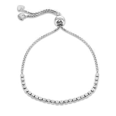 Adjustable Sterling Silver Cube Bracelet