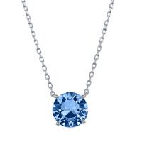 Sterling Silver & Swarovski Crystal December Birthstone Necklace