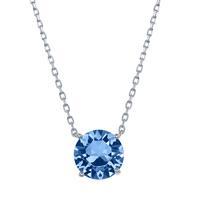 Sterling Silver & Swarovski Crystal December Birthstone Necklace