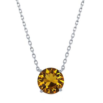Sterling Silver & Swarovski Crystal November Birthstone Necklace