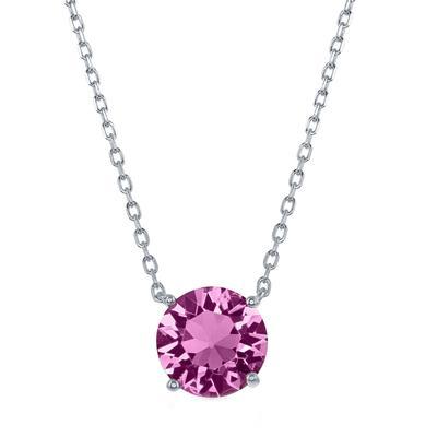 Sterling Silver & Swarovski Crystal October Birthstone Necklace