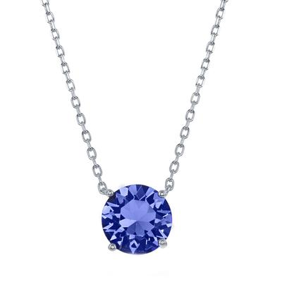 Sterling Silver & Swarovski Crystal September Birthstone Necklace