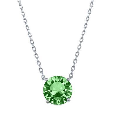 Sterling Silver & Swarovski Crystal August Birthstone Necklace